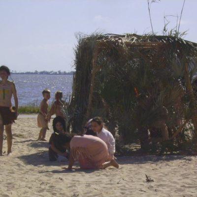 1699 pageant on OS beach