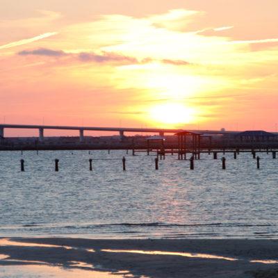 Sun set on OS east beach